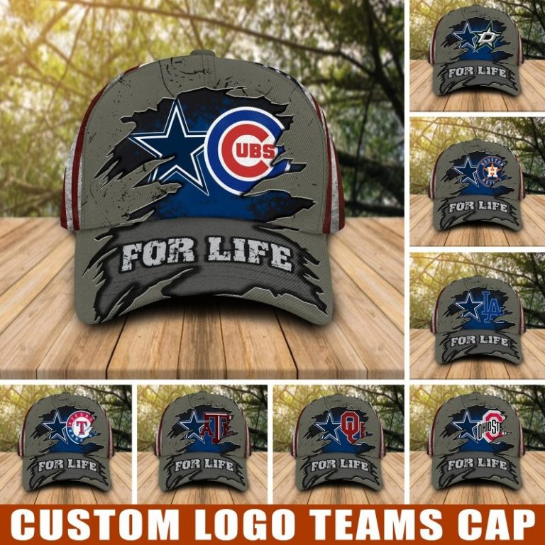 Dallas Cowboys and Sport teams For Life custom cap hat