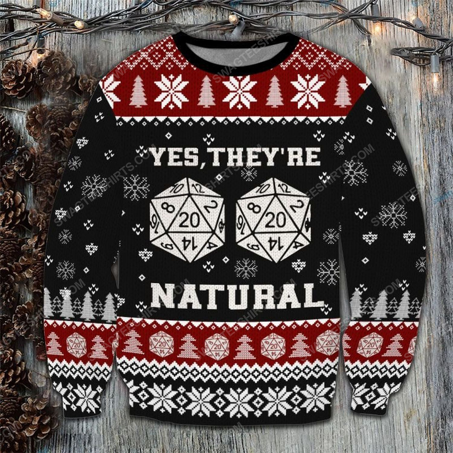 Dungeons and dragons they are natural ugly christmas sweater