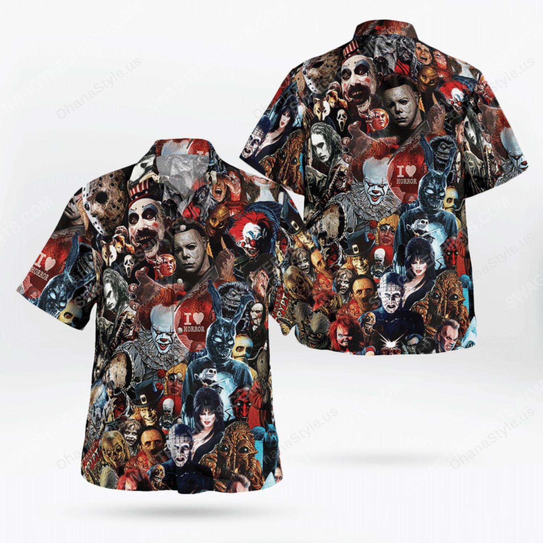 Halloween night horror killer hawaiian shirt