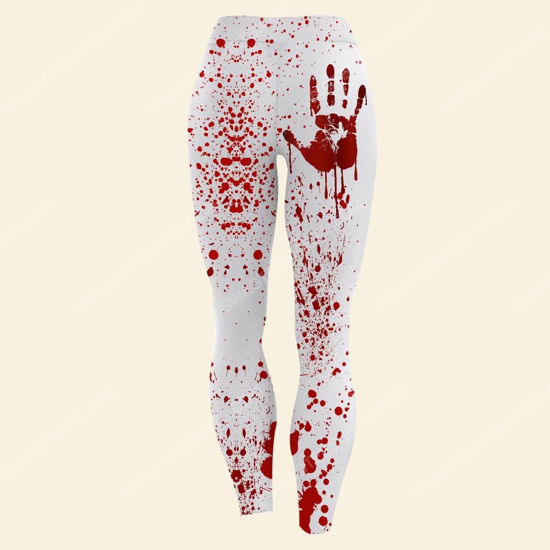 Halloween with blood hand full print legging