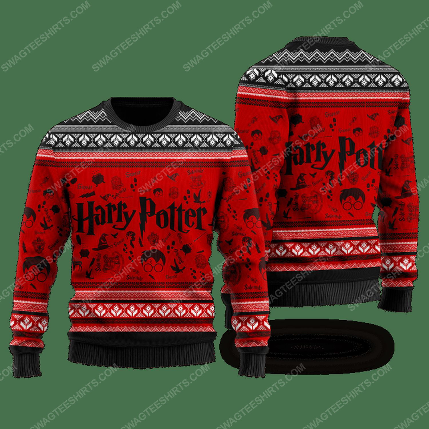 Harry potter movie ugly christmas sweater
