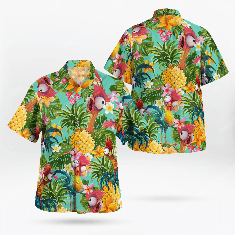 Hei hei chicken tropical hawaiian shirt