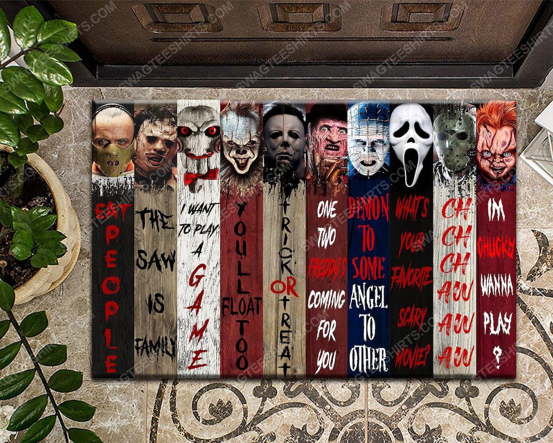 Horror characters movies halloween full print doormat
