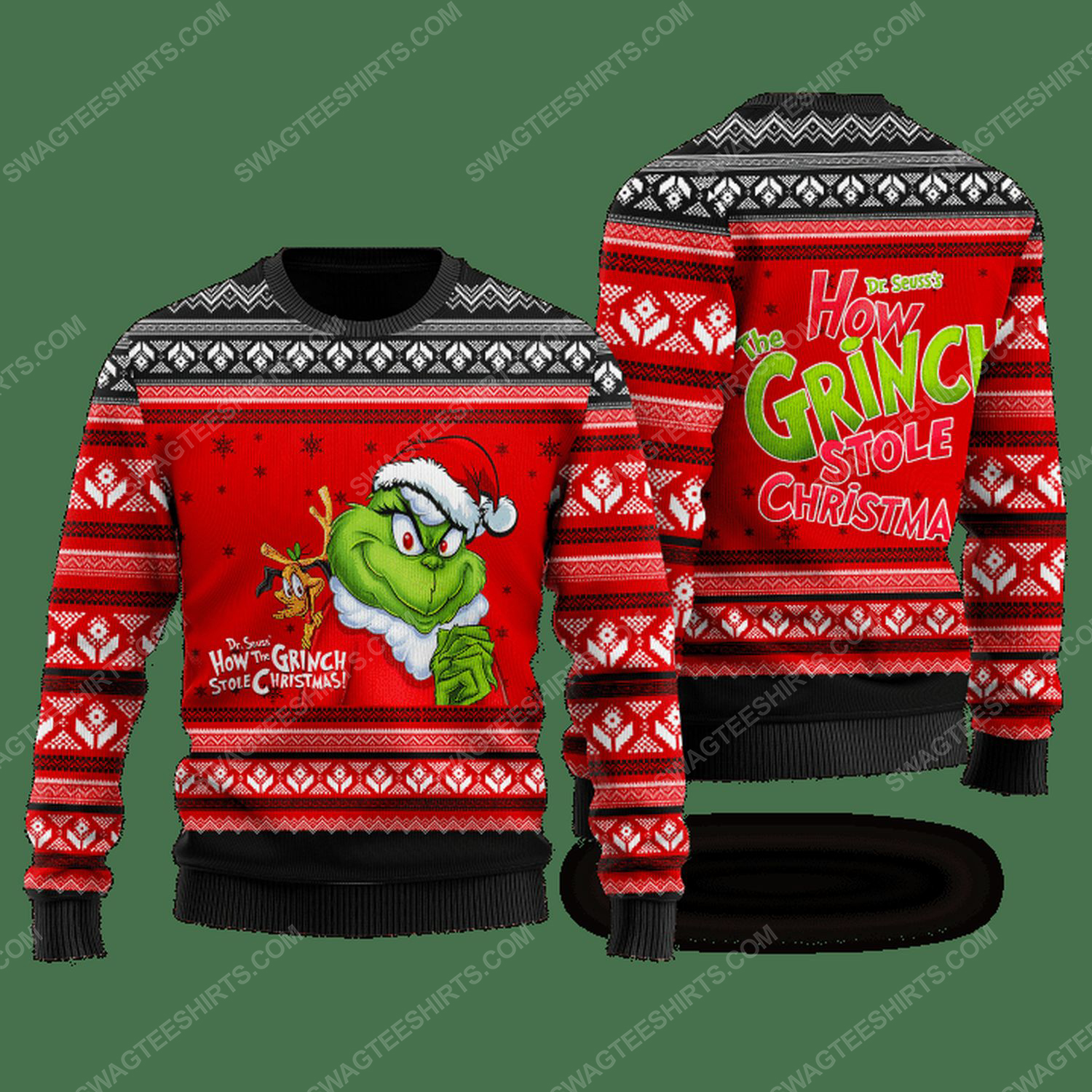 How grinch stole christmas ugly christmas sweater