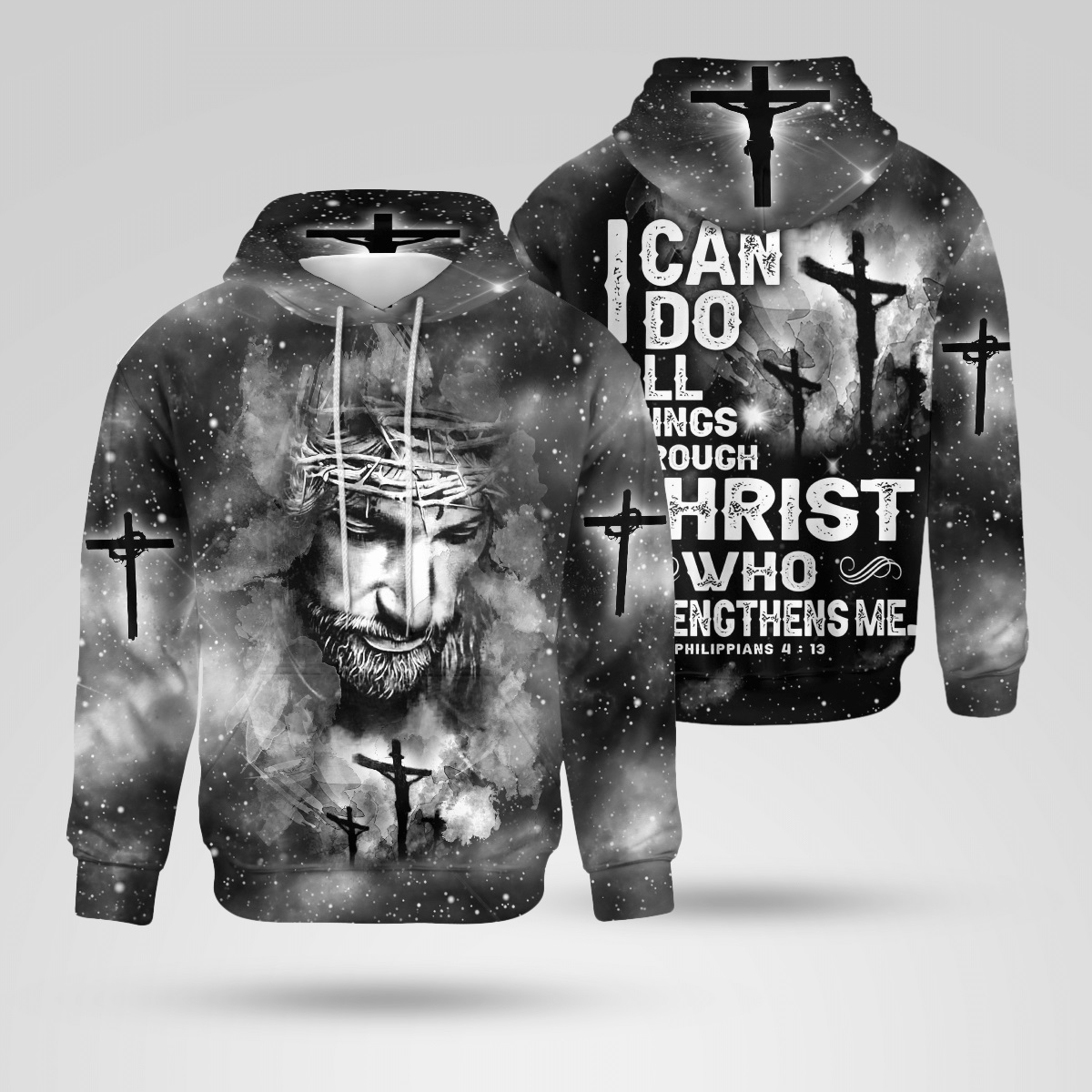 I can do all things through Christ 3d hoodie