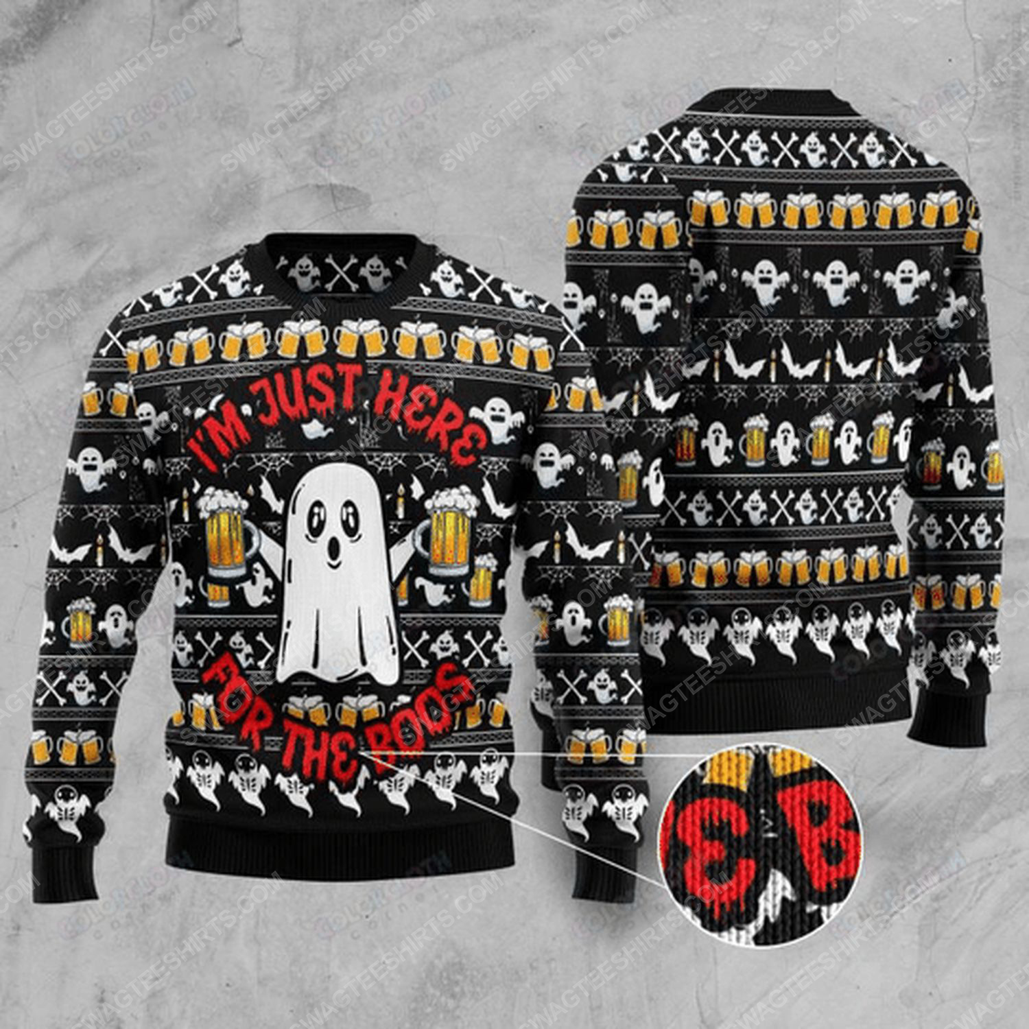 I'm just here for the boos ugly christmas sweater