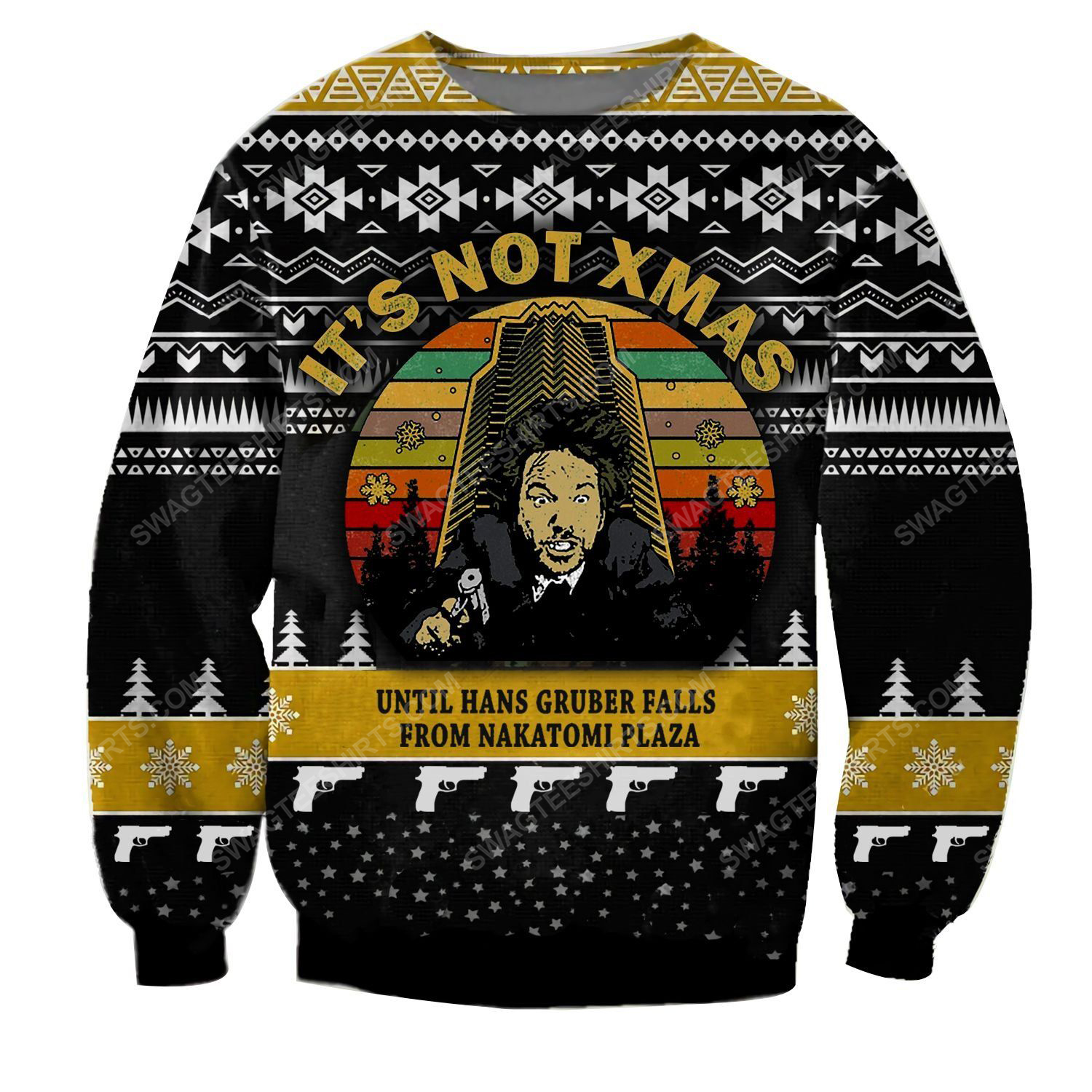 It's not christmas until hans gruber falls from nakatomi plaza ugly christmas sweater