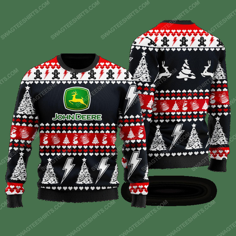 John deere company ugly christmas sweater