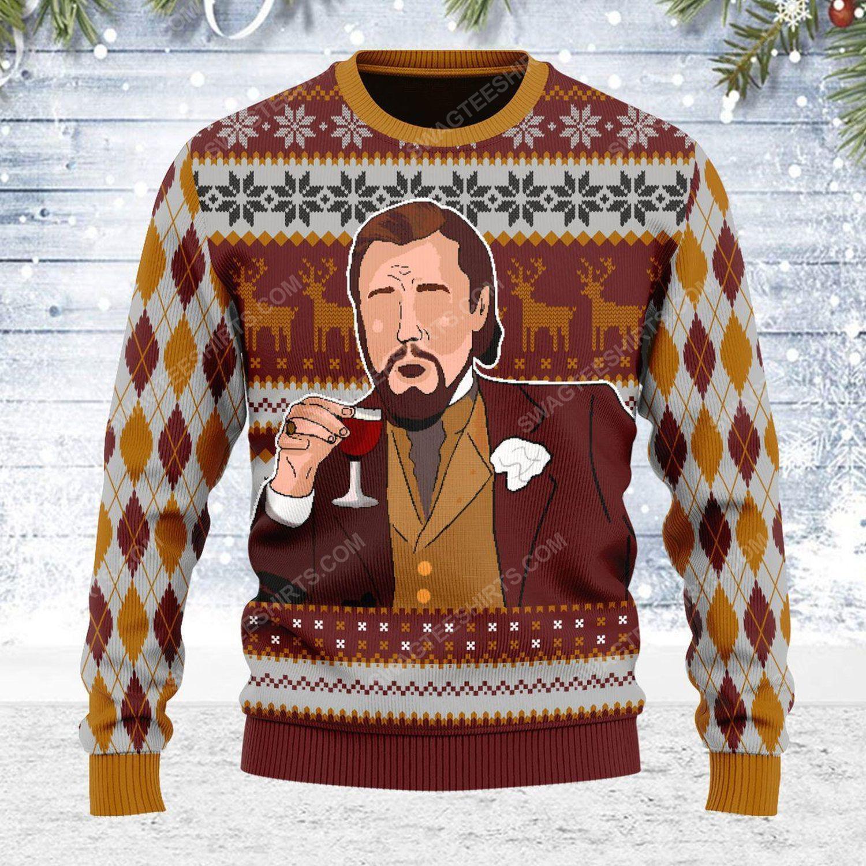 Leonardo dicaprio meme ugly christmas sweater