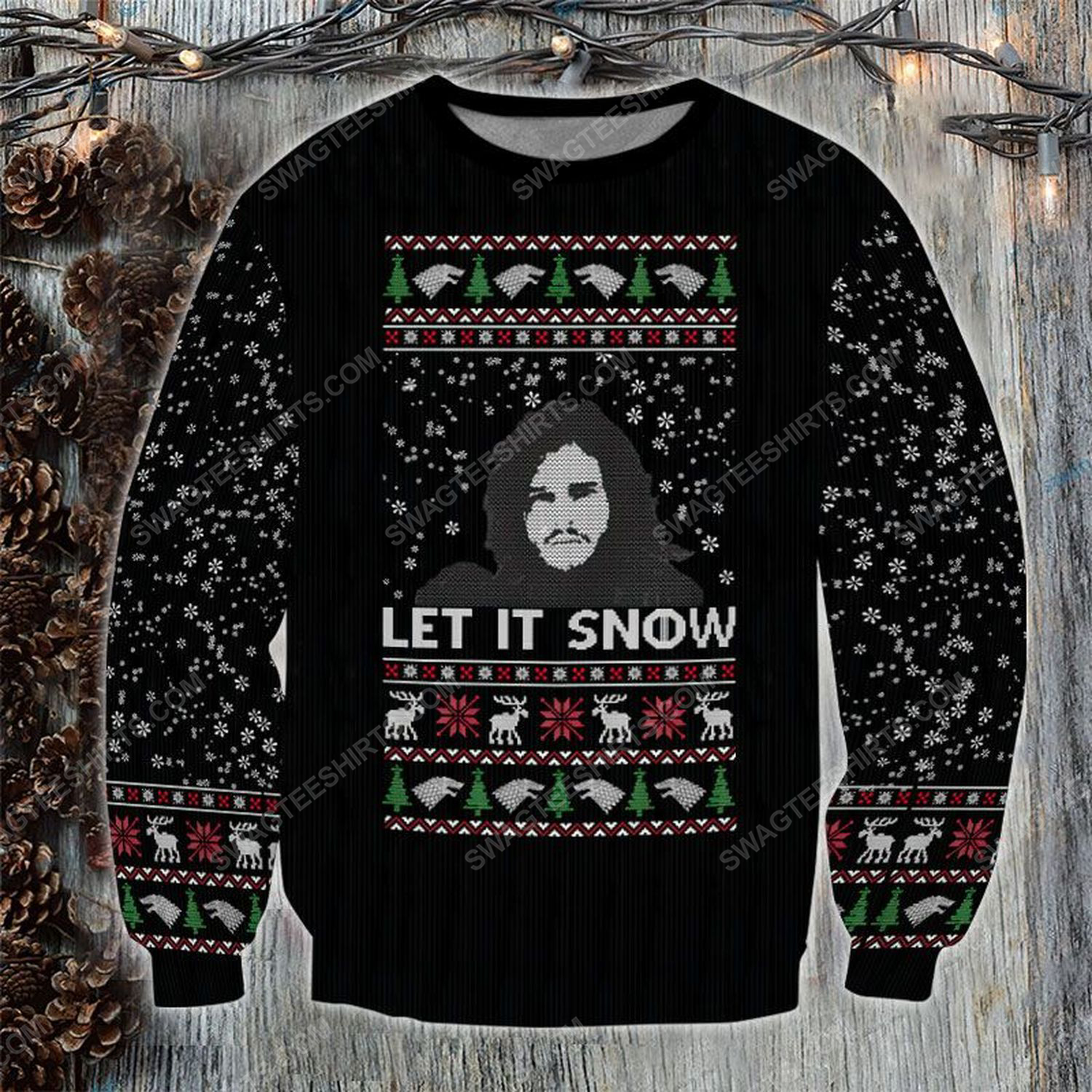 Let it snow game of thrones ugly christmas sweater