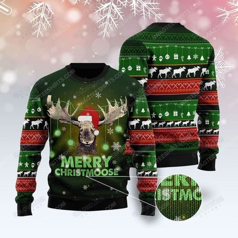 Merry christmoose ugly christmas sweater