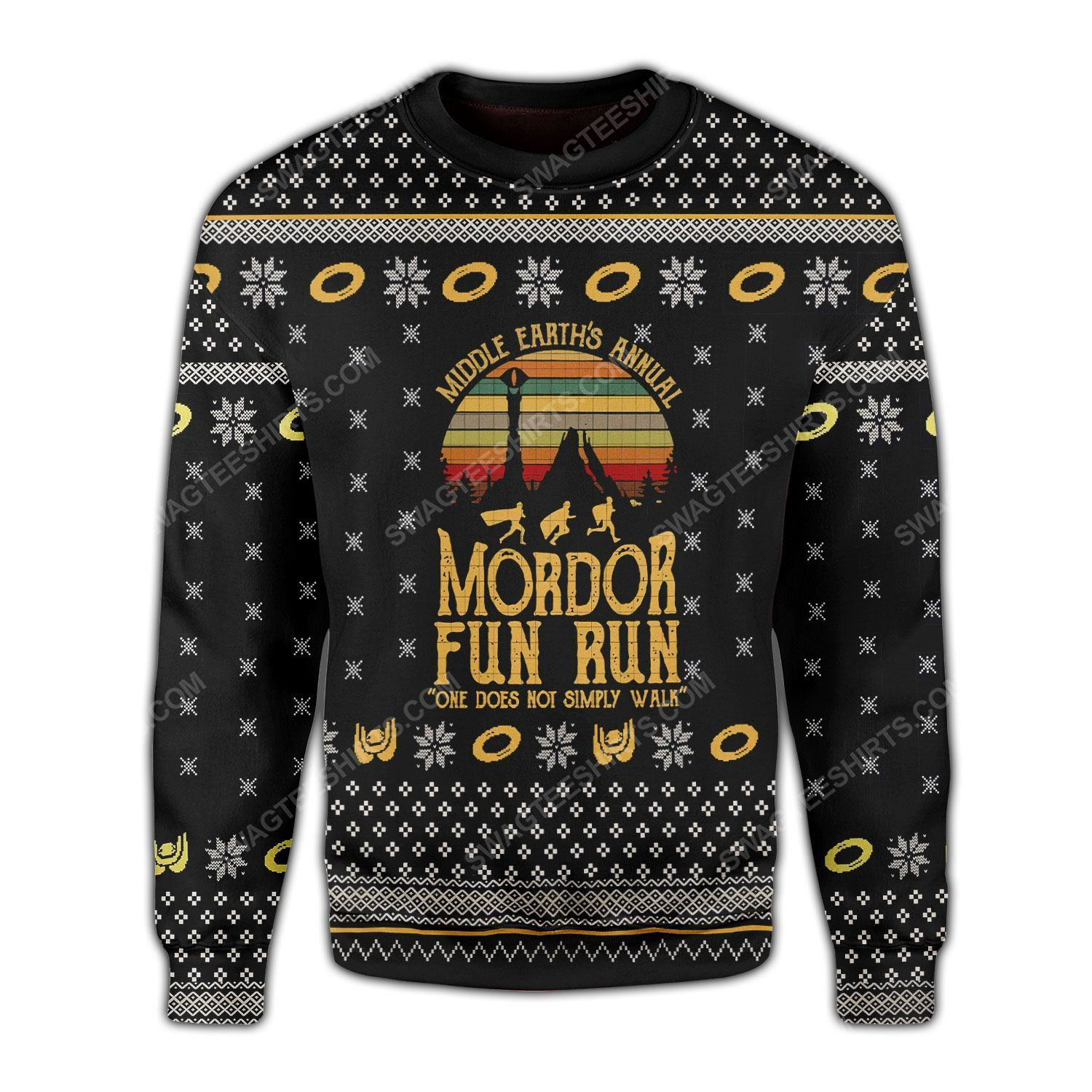 Mordor fun run the lord of the rings ugly christmas sweater