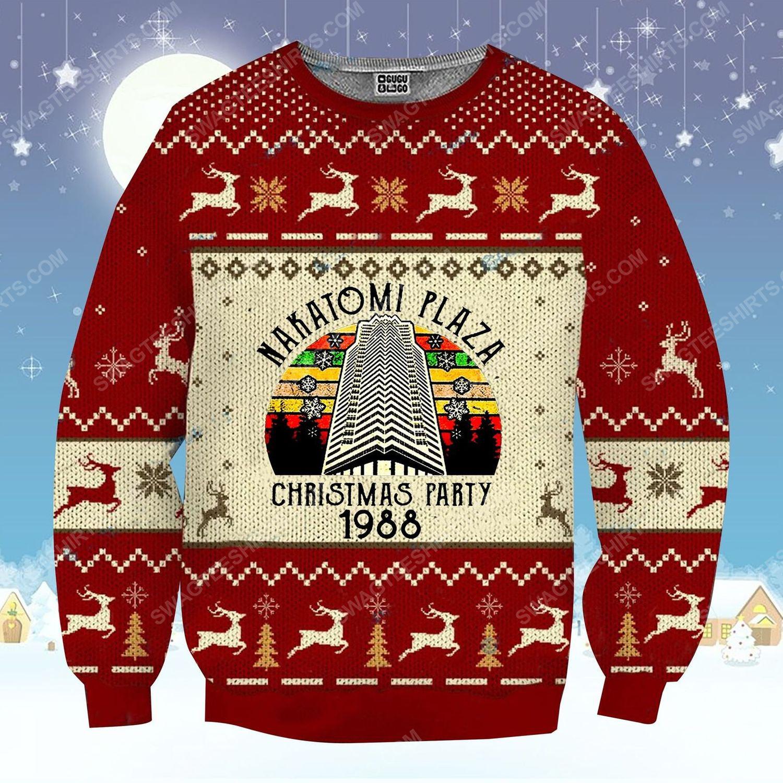 Nakatomi plaza christmas party ugly christmas sweater