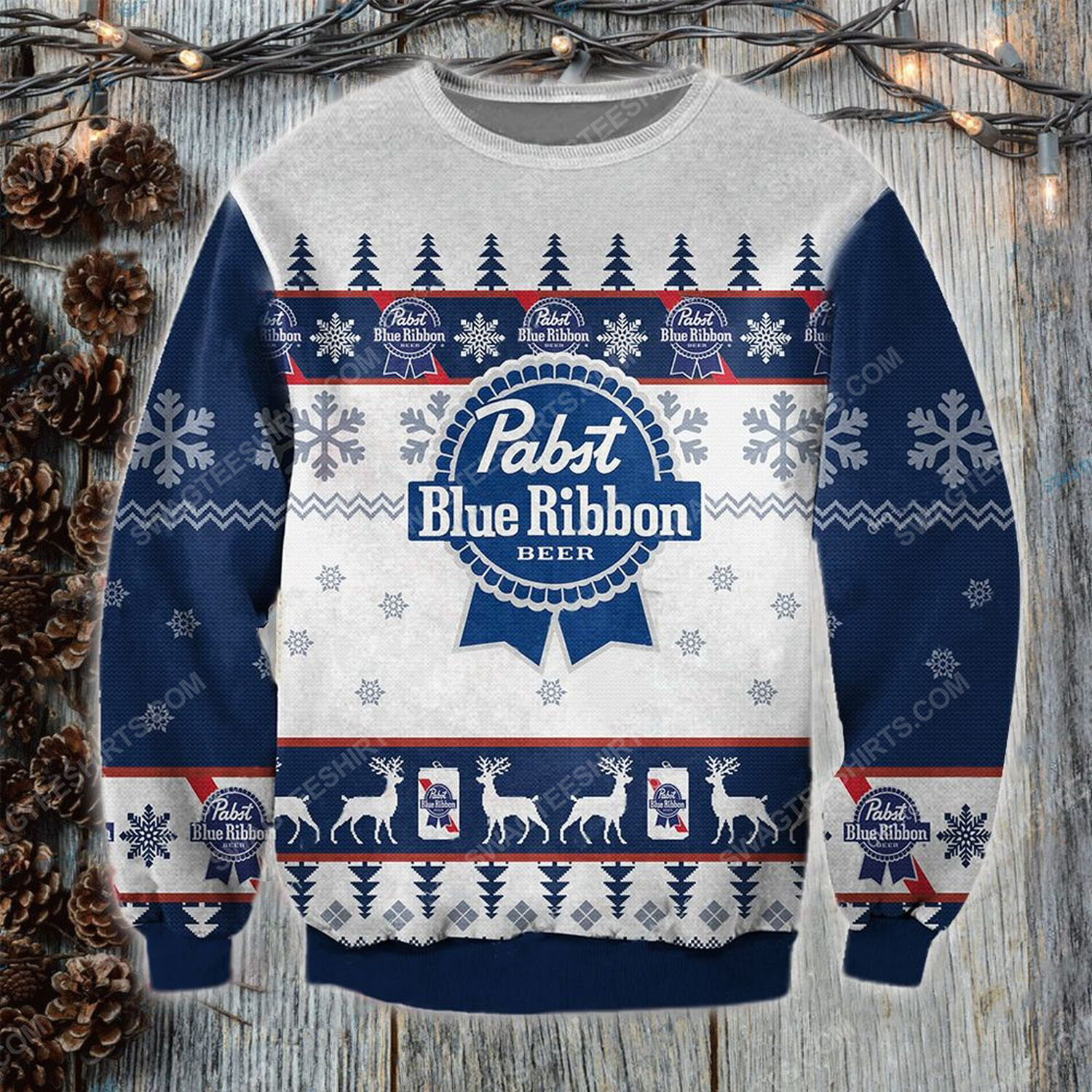 Pabst blue ribbon beer pabst brewing ugly christmas sweater