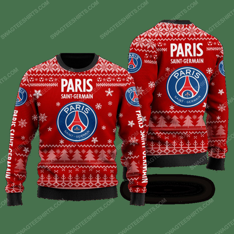 Paris saint-germain football club ugly christmas sweater