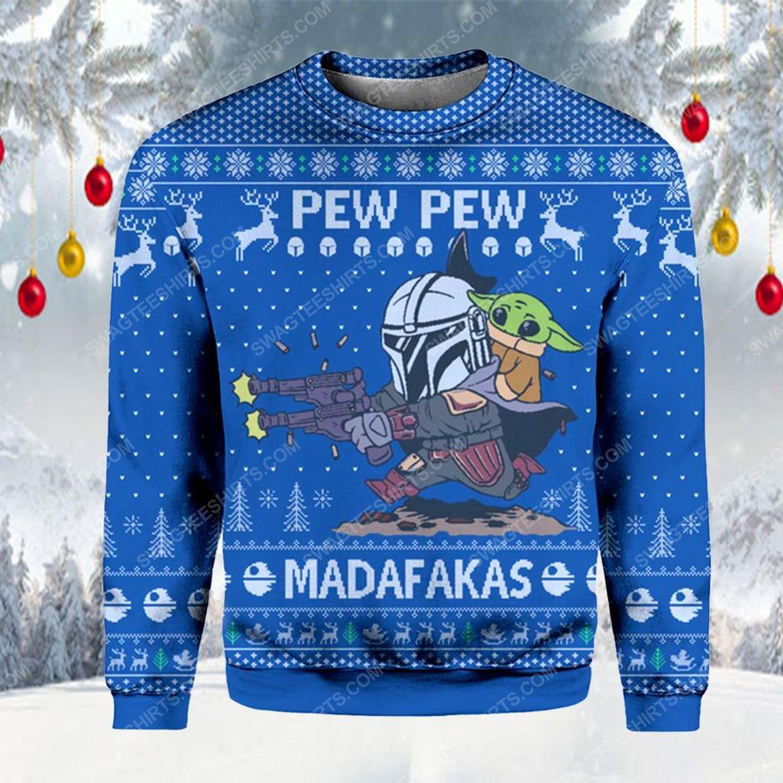 Pew pew madafakas star wars ugly christmas sweater