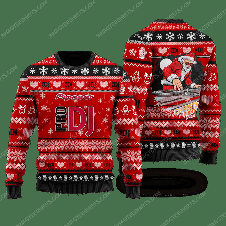 Pioneer pro dj santa claus ugly christmas sweater