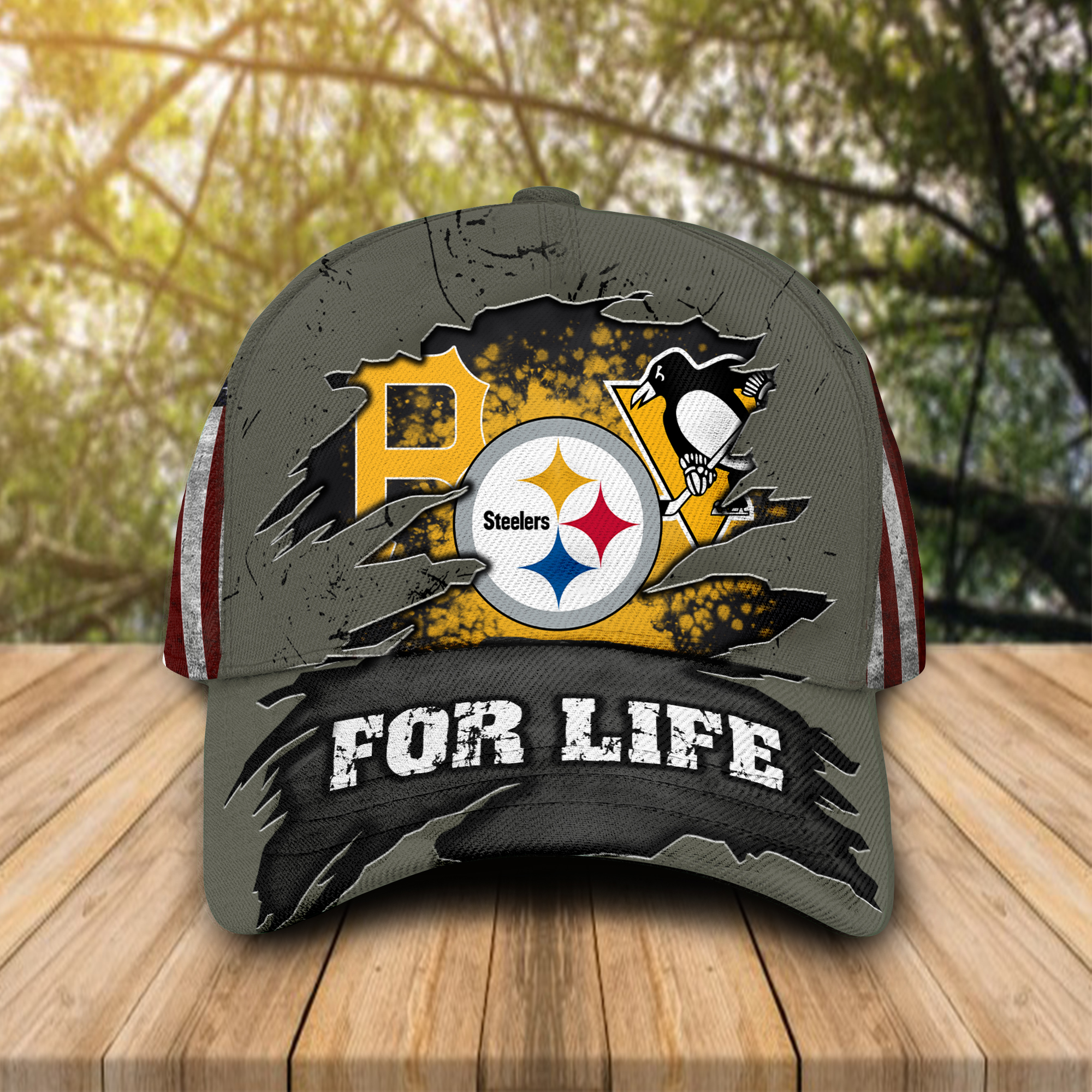 Pittsburgh Pirates Pittsburgh Penguins Pittsburgh Steelers Sports For Life Cap Hat