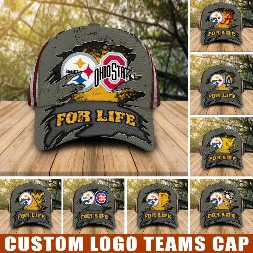 Pittsburgh Steelers and Sport teams For Life custom cap hat