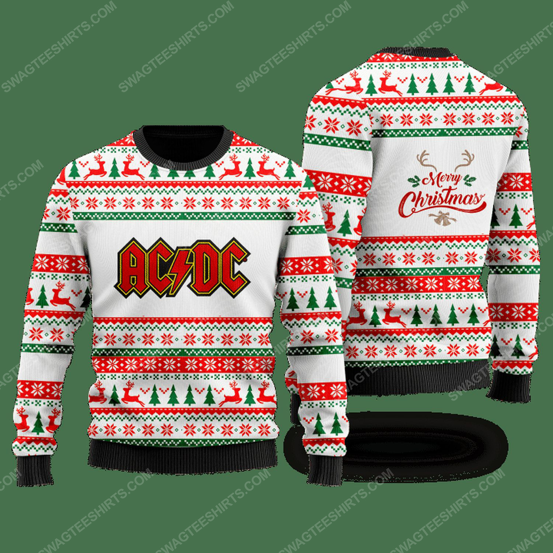 Rock band ac dc merry christmas ugly christmas sweater