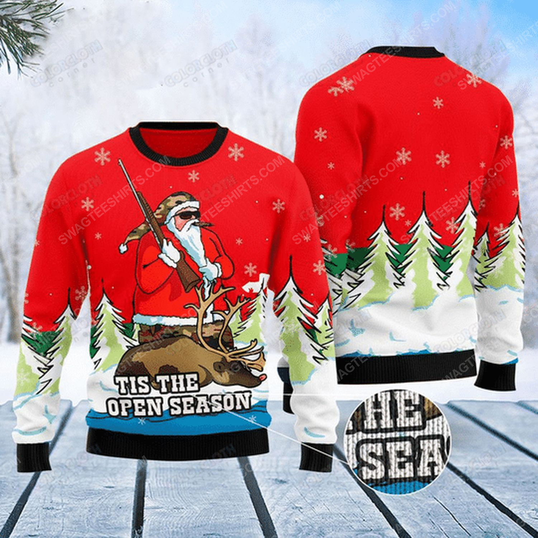 Santa hunting tis the open season ugly christmas sweater
