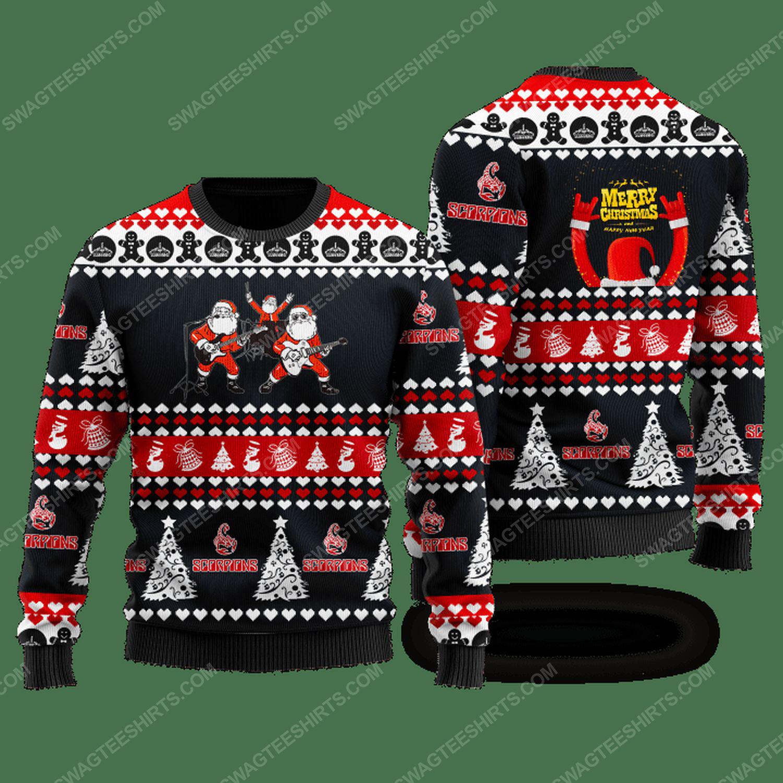 Scorpions rock band santa ugly christmas sweater