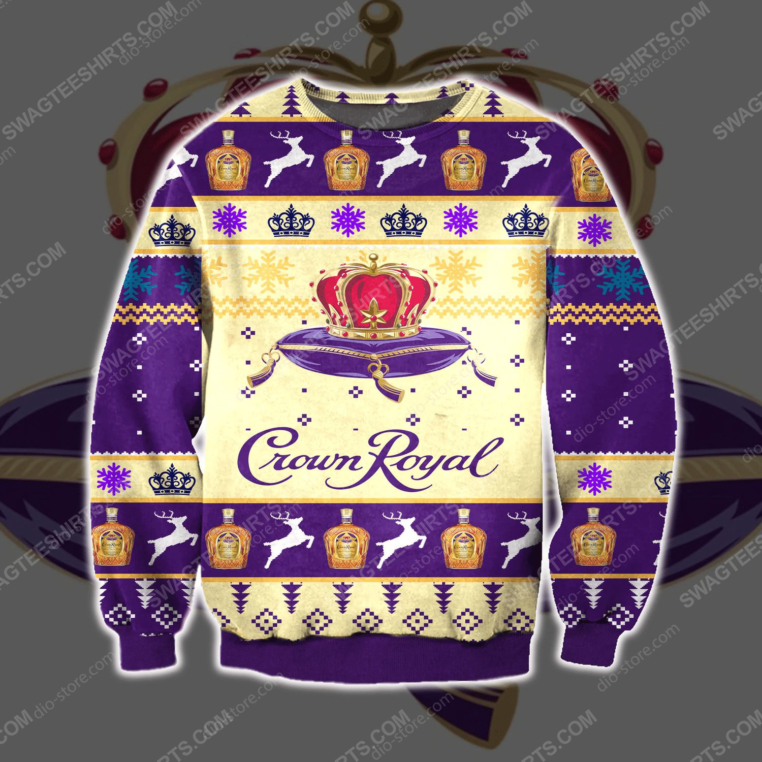 Seagram's crown royal ugly christmas sweater