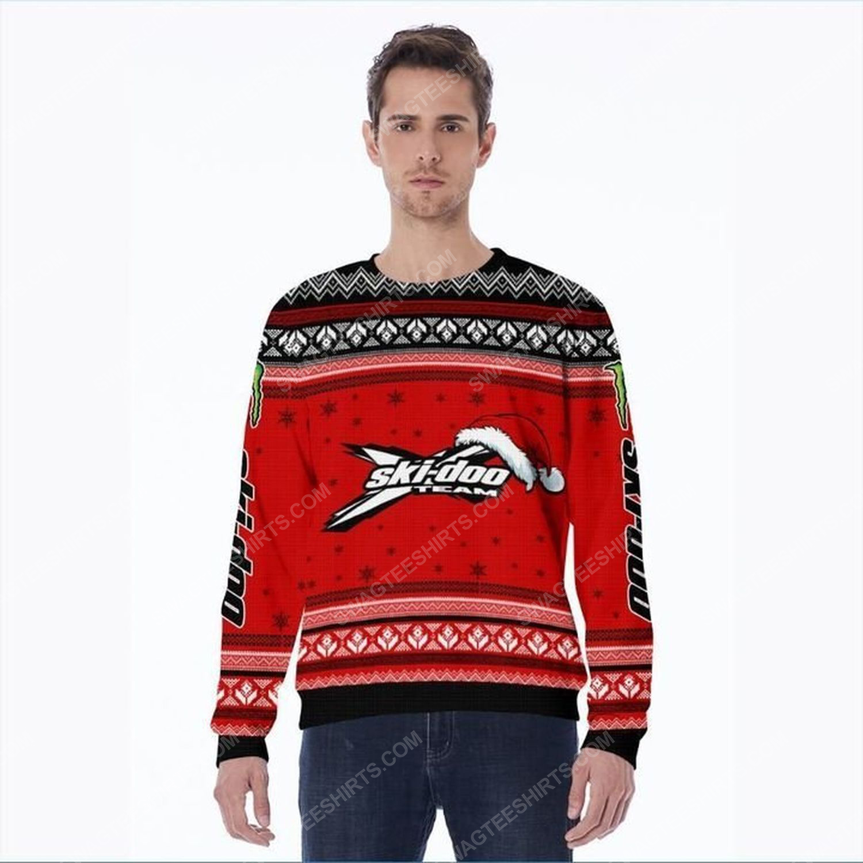 Ski-doo x-team racing ugly christmas sweater