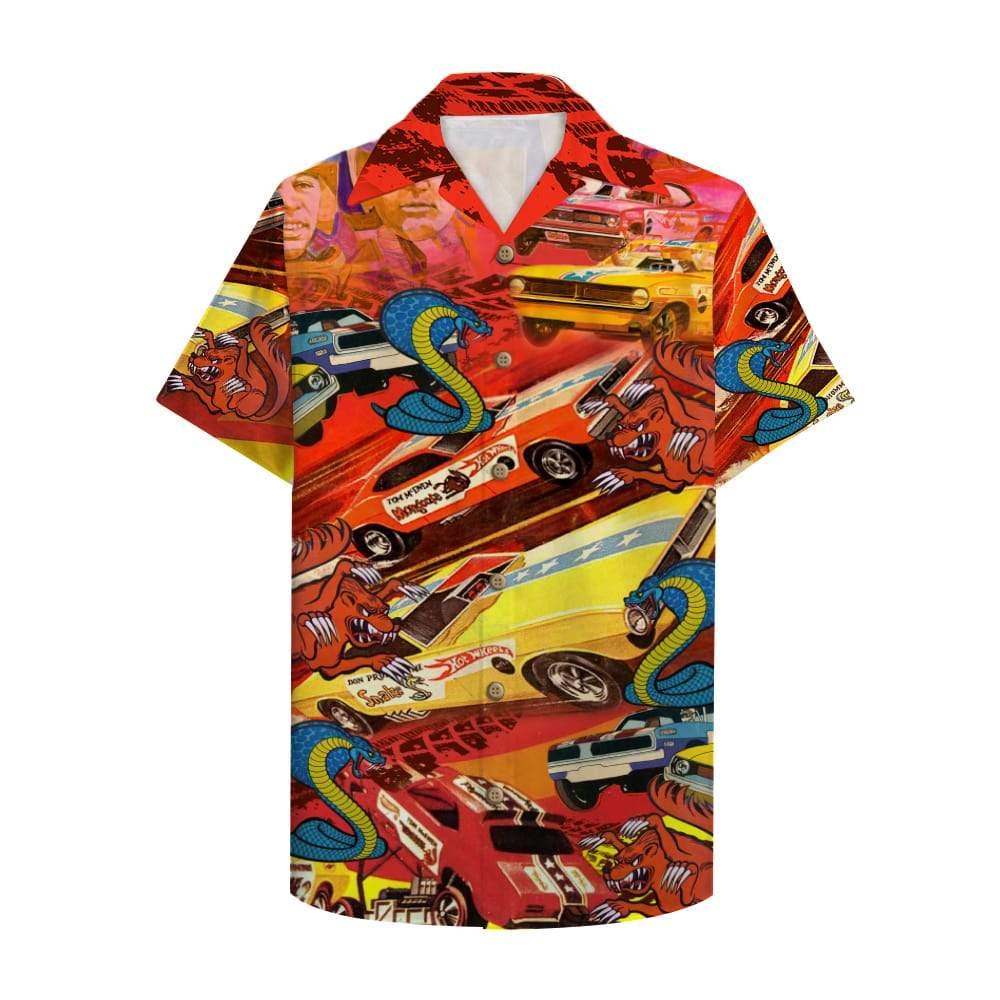 Snake And Mongoose Drag Racing Hawaiian Shirt