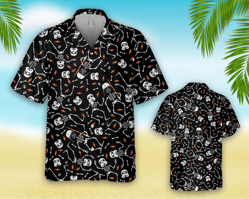 Star Wars Darth Vader Stormtrooper skeleton hawaiian shirt