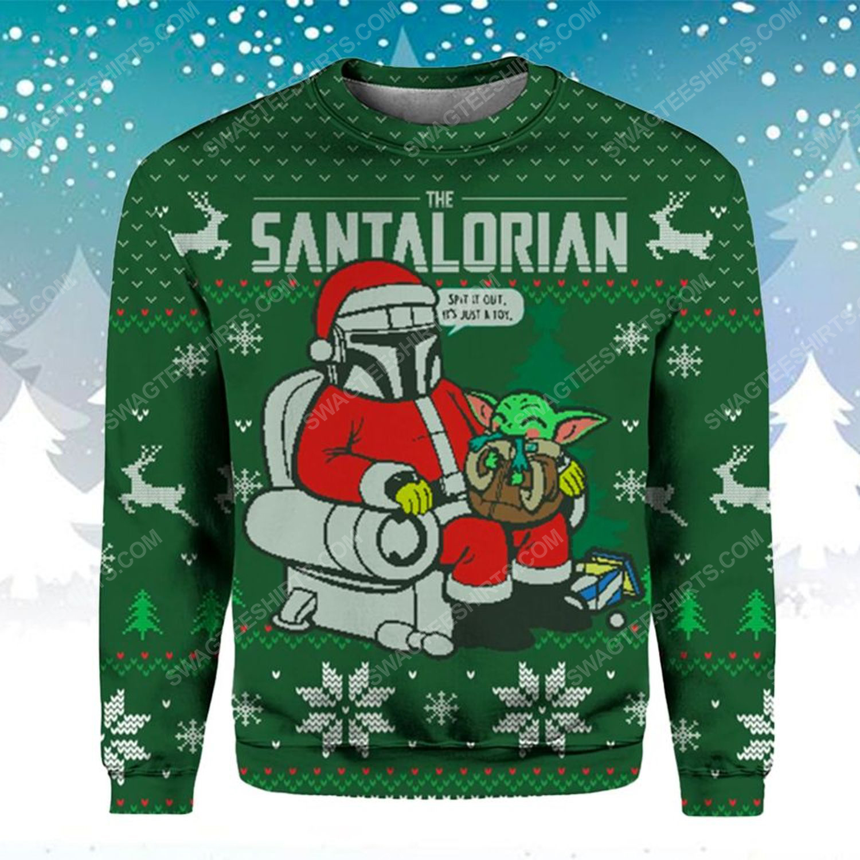 Star wars the santalorian ugly christmas sweater