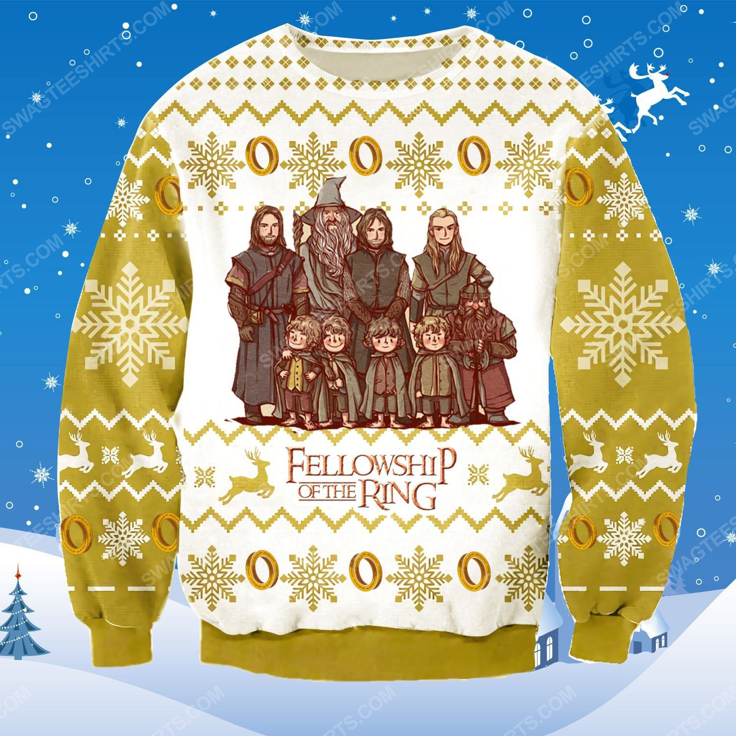 The fellowship of the ring ugly christmas sweater