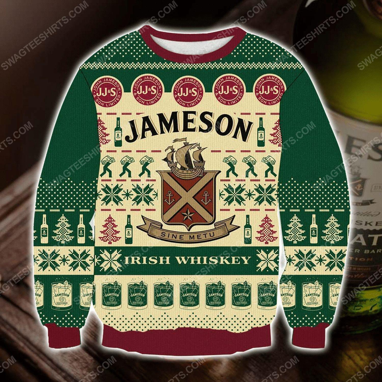 The jameson irish whiskey ugly christmas sweater
