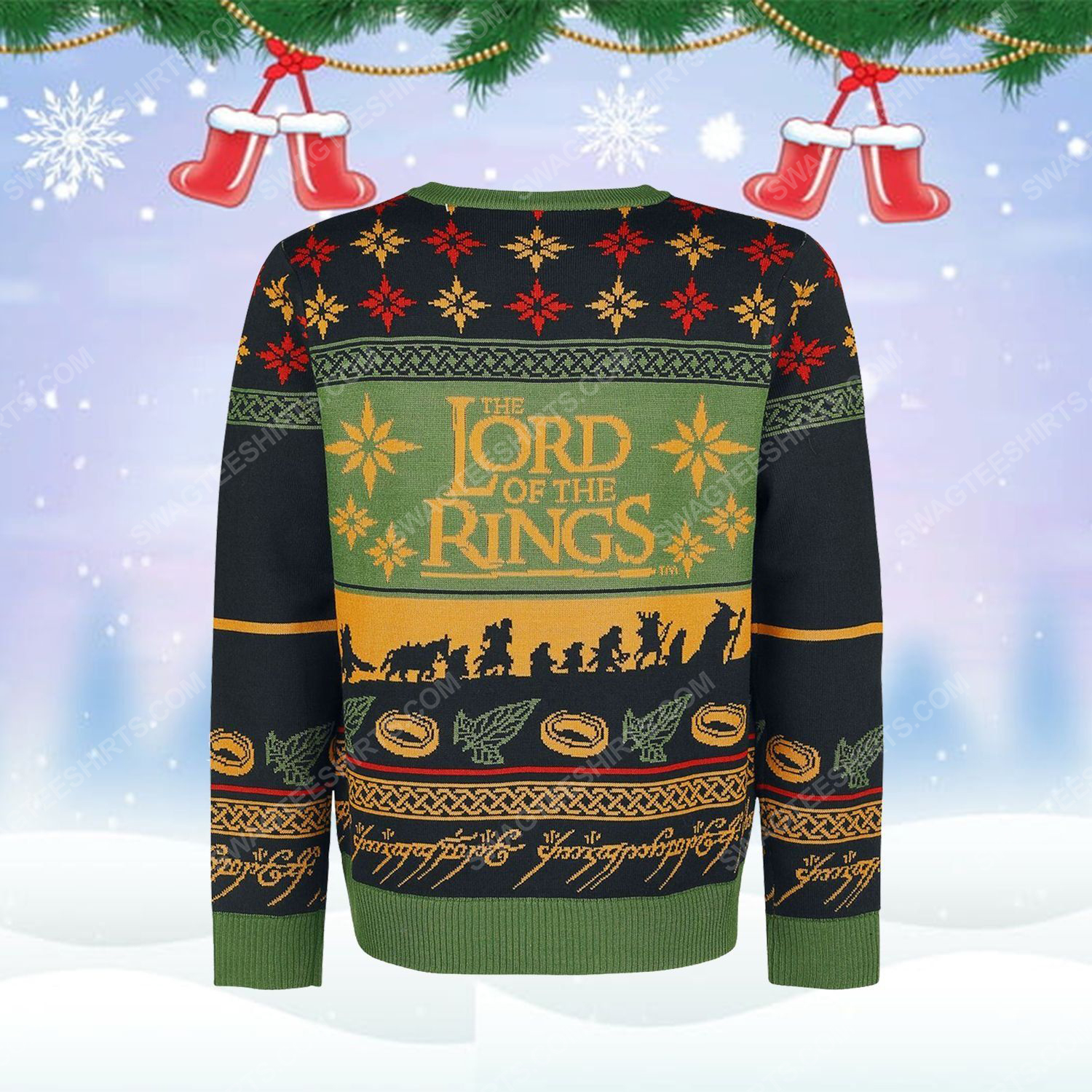 The lord of the rings series ugly christmas sweater