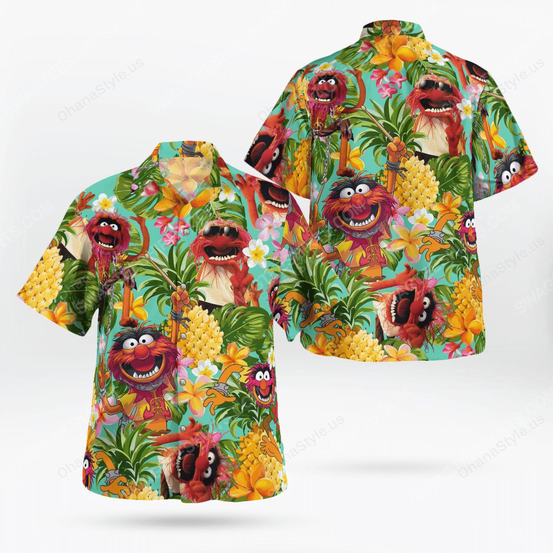 The muppet show animal tropical hawaiian shirt