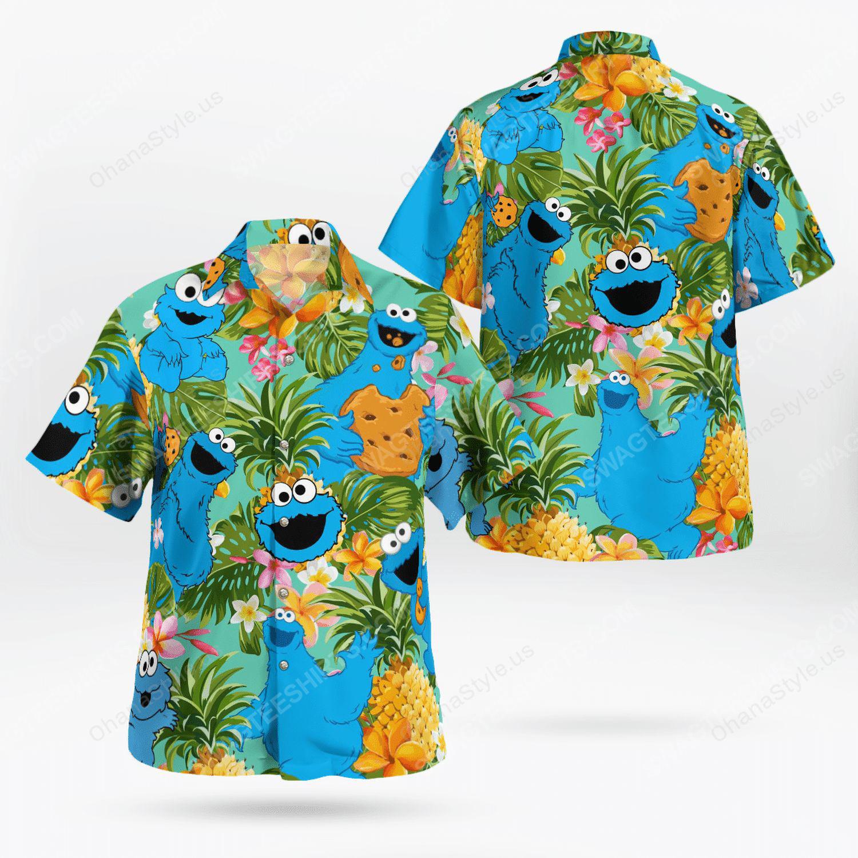 The muppet show cookie monster hawaiian shirt
