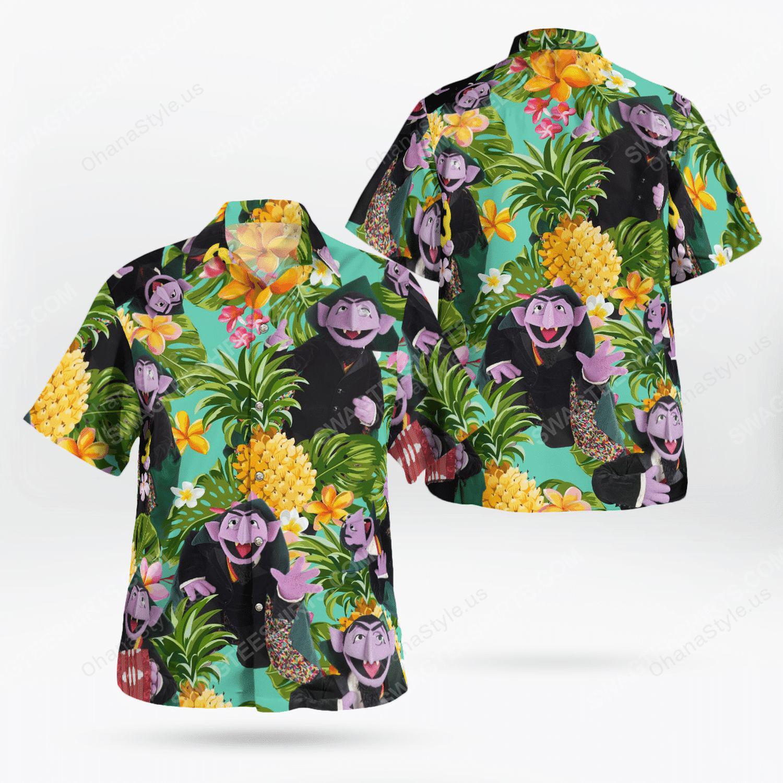 The muppet show count von count hawaiian shirt