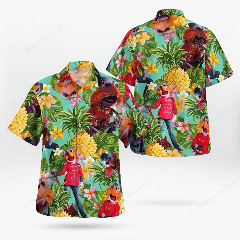 The muppet show floyd pepper tropical hawaiian shirt