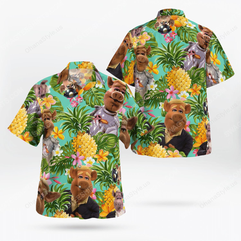 The muppet show link hogthrob tropical hawaiian shirt