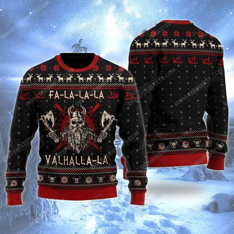 Viking fa-la-la-la valhalla ugly christmas sweater